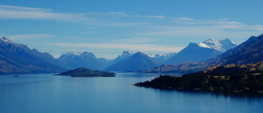 Lake Wakatipu and Mount Earnslaw in New Zealand